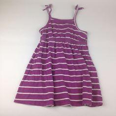Old Navy 3T 3 Yrs Purple Stripe  Sleeveless Dress Summer Beach Girl Clothes #OldNavy #Dress #PlayCasual