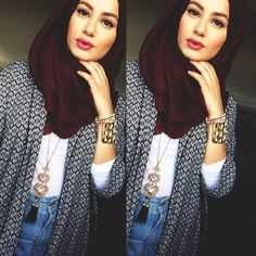 the gorgeous color of the hijab. Islamic Fashion, Muslim Fashion, Modest Fashion, Hijab Fashionista, Hijab Wear, Hijab Outfit, Hijab Chic, Muslim Girls, Muslim Women