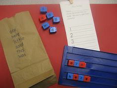 Sight word practice - write words on a bag, inside put unifix cube letters to make all the words. The students build and write the words Sight Word Spelling, Sight Word Practice, Sight Words, Spelling Practice, Spelling Activities, Sight Word Activities, Reading Activities, Literacy Activities, Kindergarten Lesson Plans