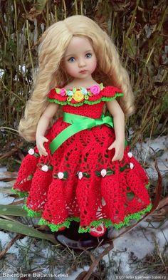 Девушки в красном...как Вы Прекрасны! Вязаные платья для кукол от Дианны Эффнер, Kaye Wiggs, Gotz и Paola Reina. / Одежда и обувь для кукол - своими руками и не только / Бэйбики. Куклы фото. Одежда для кукол