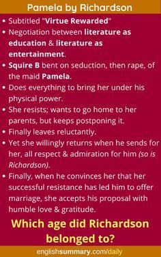 Pamela Summary by Richardson