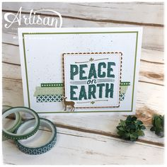 Loving the combination of greens on this card made with the Carols of Christmas bundle. #stampinup #carolsofchristmas
