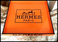 tasche hermes - HUGE HERMES Inspired Serving Tray Lacquered Wood BIRKIN 35 Orange ...