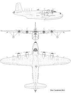 Short Aircraft co. Amphibious Aircraft, Navy Aircraft, Aircraft Photos, Ww2 Aircraft, Military Aircraft, Short Sunderland, Airplane Sketch, Bomber Plane, Float Plane