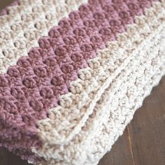 Chunky Crochet throw pattern - Leelee Knits