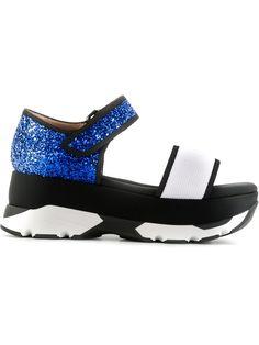 Marni glitter platform sandals