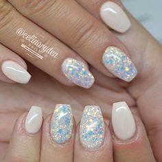 """""""Light Elegance hard gels used: ✨ Pink Turu and a dry glitter mix✨Light Elegance Ambassador ✨@lightelegancehq✨ www.lightelegance.com for more information…"""""""