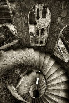 abandoned staircase by jum jum