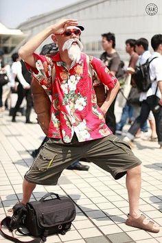 Master Roshi of Dragon Ball Z cosplay - Visit now for 3D Dragon Ball Z compression shirts now on sale! #dragonball #dbz #dragonballsuper