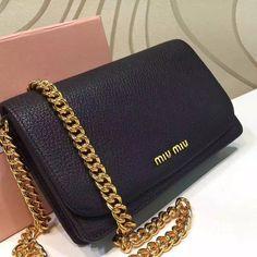 Miu Miu Flap Chain Shoulder Bag 100% Authentic 80% Off  0057062ef18ca