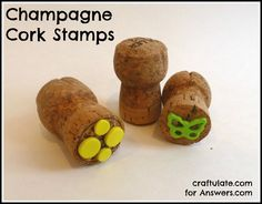 Champagne Cork Stamps - Craftulate