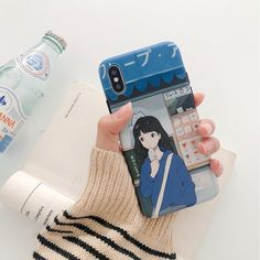 Japanese school girl pattern matte iphone case 6 7 8 plus xr xs max Summer Iphone Cases, Pretty Iphone Cases, Cute Phone Cases, New Iphone, Kawaii Phone Case, Diy Phone Case, Spy Gadgets, Office Gadgets, Phone Gadgets