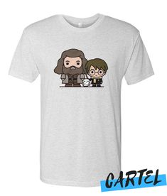 Harry Potter Hagrid And Hedwig awesome T Shirt Hedwig, Direct To Garment Printer, Grey And White, Cool T Shirts, Shirt Style, Harry Potter, Awesome, Mens Tops, Stuff To Buy