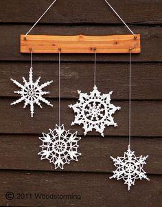 beautiful way to display snowflakes                                                                                                                                                                                 More