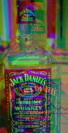food, beverage, rainbow, effect, jack daniel's, alcohol, bottle