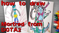 How to Draw Mortred from DOTA2
