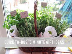 five minute gift ideas! a fun list.