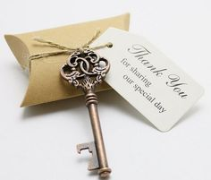 Key To My Heart Bottle Opener Wedding Favors - Dream Wedding Ideas
