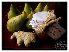 Pear and ginger jam Ginger Jam, Preserves, Pear, Stuffed Mushrooms, Vegetables, Recipes, Food, Stuff Mushrooms, Preserve