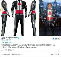 Mexico's Outfits for the 2014 Sochi Olympics Are Totally Insane