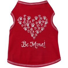 Paw Heart Be Mine Dog Tee...........perfect for Valentine's Day :-) Available at http://doggyinwonderland.com/item_2385/Paw-Heart-Be-Mine-Dog-Tee.htm