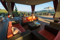 Sbragia Family Vineyards || Enjoy the sunset on our terrace with panoramic views. #milestoneeventsgroup