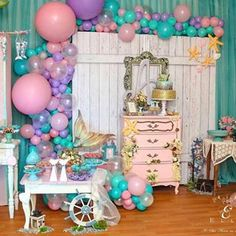 Festa Sereia! Por @ello__decoracao #encontrandoideias #blogencontrandoideias #festasereia #galeriasereia