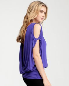 bebe Surplice Drape Top #bebe #wishesanddreams