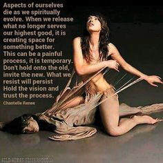 Aspects of ourselves die as we spiritually evolve. What beautiful imagery!