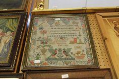 Lot 529 - 1892 Framed SamplerAlice Mary Atterton (?) 1892 (?) - (M)ois
