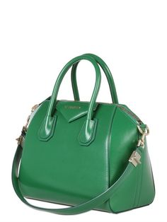 SMALL ANTIGONA SHINY SMOOTH LEATHER BAG