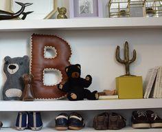 Alphabet Letter Pillow, Crochet Edging & Faux Leather, One Made To Order House Design Photos, Letter B, Kidsroom, Before Christmas, Joyful, Accent Pillows, Alphabet, Nursery, Crochet