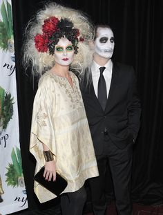 Pin for Later: Get Some Halloween Inspiration With 80+ Amazing Celebrity Costumes!  Debra Messing and her husband got ghoulish for an NYC party in 2011.