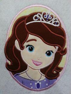 First Princess Applique Embroidery Design