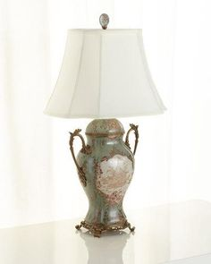 Shop Porcelain Trophy Lamp at Horchow, where you'll find new lower shipping on hundreds of home furnishings and gifts. Porcelain Insulator, China Dinnerware Sets, Brass Table Lamps, Lamp Socket, Lighting Sale, Modern Chandelier, Chandeliers, Pendant Lamp, Home Furnishings