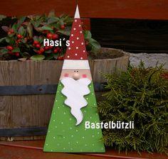 Weihnachts-Wichtel Horst, aus Holz von Hasi´s Bastelbützli auf DaWanda.com