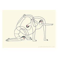 yoga mini poster - beyond your flexibility - poster - yoga illustration - yoga drawing - yoga postures - mini-poster -digital print Mini Poster, A4 Poster, Bikram Yoga, Ashtanga Yoga, Design Poster, Design Art, Yoga Kunst, Yoga Drawing, Yoga Illustration