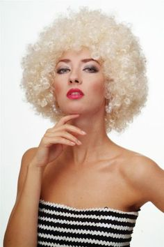 WIG Afro WIG Afro 70ER Years Party Funky Disco Foxy Light Blonde PW0011 P88 | eBay