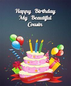 Happy Birthday Beautiful Cousin, Happy Birthday Wishes Cousin, Happy Birthday Prayer, Birthday Greetings For Women, Birthday Blessings, Happy 2nd Birthday, Happy Birthday Messages, Happy Birthday Quotes, Happy Birthday Images