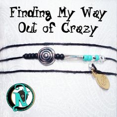 """<b>Thread:</b> Black<b>Crazy Circle Bead:</b> Tibetan Silver<b>Twisted Tube Bead:</b> Clear Glass<b>Colored Glass Beads:</b> Black, Turquoise, Clear<b>Tag:</b> NTIO (brass)<b>Size:</b> Fits All<b>Close-up Photo:</b> Not Actual SizeOur special """"forever"""" thin chord is color fast and waxed to make it super strong and water resistant. Wear it in the shower or the pool.  The brass tag is hand stamped with the NTIO Logo on one side and bracelets or necklaces that support an <b>Artist, Band, Cause…"""