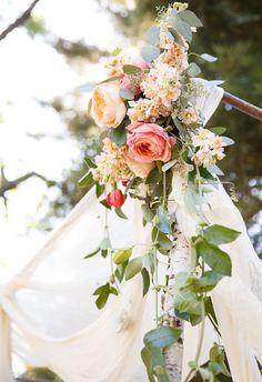 Romantic floral arbor // Jen Philips Photography