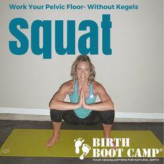 body weight squat to strengthen pelvic floor