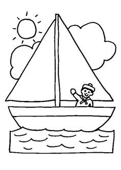 Home Decorating Style 2020 for Coloriage Bateau, you can see Coloriage Bateau and more pictures for Home Interior Designing 2020 15653 at SuperColoriage. Preschool Coloring Pages, Easy Coloring Pages, Animal Coloring Pages, Easy Drawings For Kids, Drawing For Kids, Art For Kids, Summer Coloring Sheets, Learn To Sketch, Quiet Book Templates
