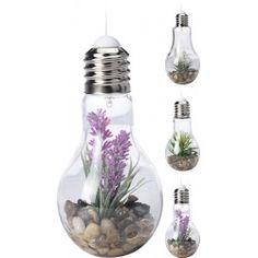 Velas decorativas led bombilla con plant