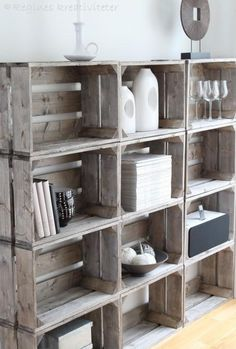 DIY shelf / mini library!.... Decorative storage for kitchen....