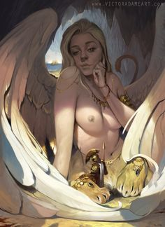 Oedipus and the Sphinx, Victor Adame on ArtStation at http://www.artstation.com/artwork/oedipus-and-the-sphinx