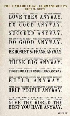 10 Paradoxical Commandments