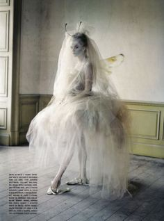 photo by Tim Walker for Vogue Italia. This looks almost exactly like the doll called 'Cobweb' by artist Nicole West.