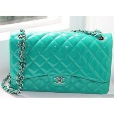 chanel and teal. a match made in heaven