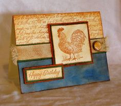 CC200 - Rustic Rooster by cmc2stamp - Cards and Paper Crafts at Splitcoaststampers